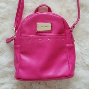 NWOT Tommy Hilfiger Hot Pink Small Backpack Purse